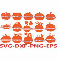 Pumpkin split monogram svg pumpkin svg halloween vector