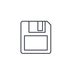 save data diskette thin line icon linear vector image