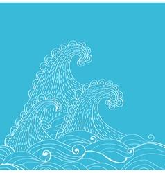 sea card vector image vector image