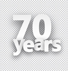 Seventy years paper sign vector