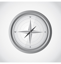 Simple compass vector image
