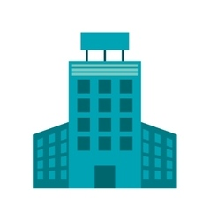 single building icon vector image