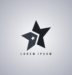 star template art vector image