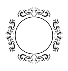 Vintage ornate circle frame frame vector