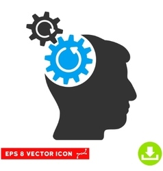 Head cogs rotation eps icon vector