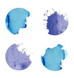 Watercolor circles vector