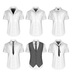 mens short sleeve formal vector image