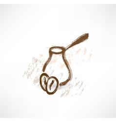 coffee turk grunge icon vector image