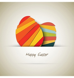 Paper easter egg card vector image