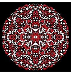 Circular pattern red white color vector