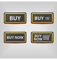 Black buy buttons vector