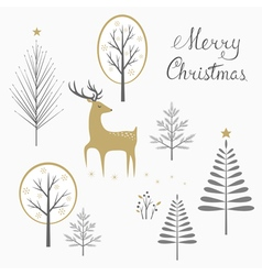 Christmas deer card vector image
