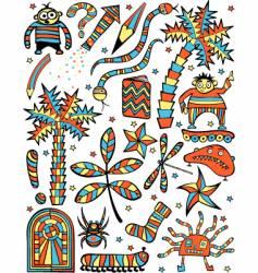 cartoon elements vector image
