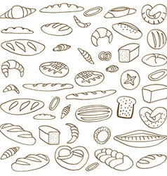 Set of doodles bread vector