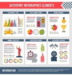 Auto sport infographics vector