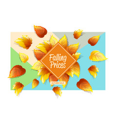 autumnal promo background vector image