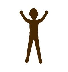 Avatar man jumping vector