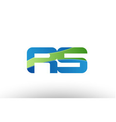 Blue green rs r s alphabet letter logo vector
