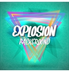 Colorful neon style abstract explosion background vector
