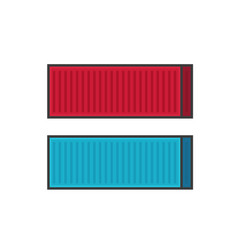 container shipping line vector image