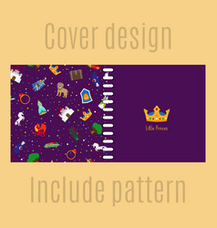Cover design with princess pattern vector