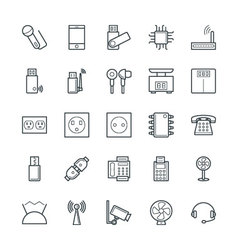 Electronic cool icons 3 vector