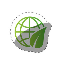 Environment globe world design vector