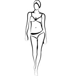 Female model vector
