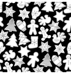 Graphic christmas gingerbread vector
