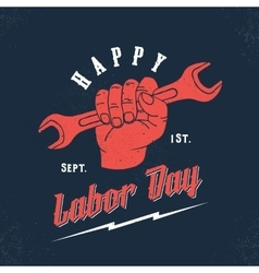 Happy Labor Day Vintage Poster Card Print vector image