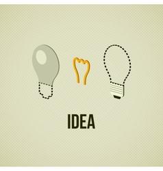 Light layered bulb idea concept template vector