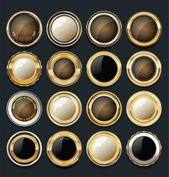 luxury golden design elements collection 10 vector image vector image
