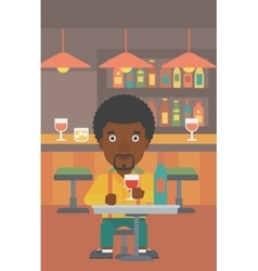 Man sitting at bar vector
