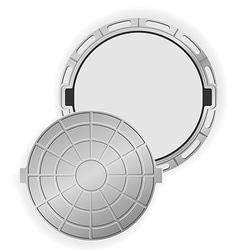 manhole 02 vector image vector image