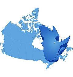 Map of Canada - Quebec province vector image