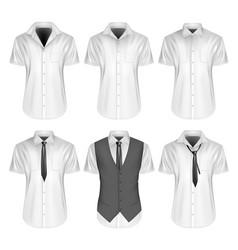 Mens short sleeve formal vector