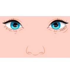 Portrait of a child with european appearance vector