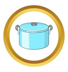 Pot with lid icon vector image