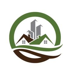 Real estate property logo template vector