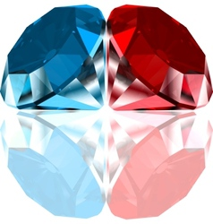 Red and blue diamonds vector image