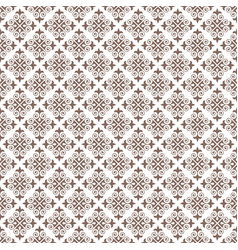 Rosybrown damask decorative pattern backdrop vector