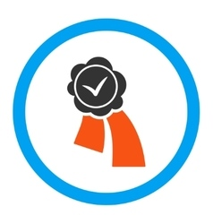 Validation seal rounded icon vector