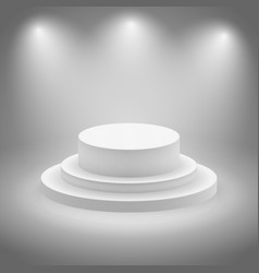 White empty illuminated stage vector