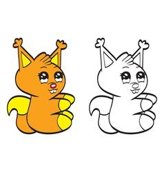 Cute cartoon baby squirrel vector image