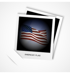 Polaroid usa flag vector