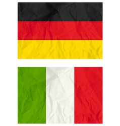 German and poland flags vector