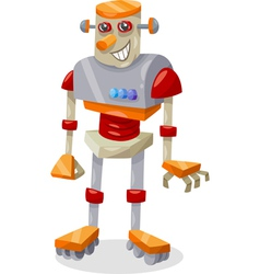 fantasy robot cartoon vector image
