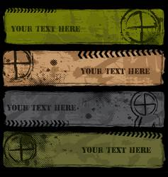 military banners vector image
