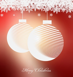Christmas background with nice embellishment vector