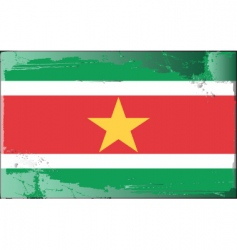 Suriname national flag vector